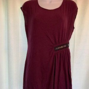 Daisy Fuentes S Purple Side Embellished Tunic Top